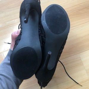 Shoe Dazzle Shoes - NWOB Mesh Cheetah Print Stilettos